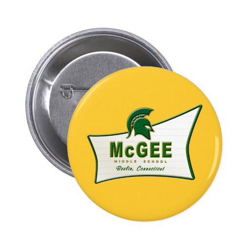 Logotipo temático retro #1 de McGee Pin Redondo 5 Cm