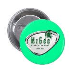 Logotipo temático retro #2 de McGee Pin Redondo 5 Cm