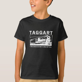 Logotipo transcontinental/blanco de Taggart Playera