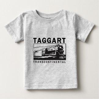 Logotipo transcontinental/negro de Taggart Playera De Bebé