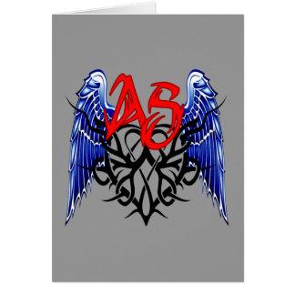 ¡Logotipo tribal de ASTV - está todo sobre el pase Tarjeta De Felicitación