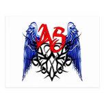 ¡Logotipo tribal de ASTV - está todo sobre el pase Tarjeta Postal