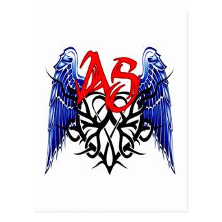 ¡Logotipo tribal de ASTV - está todo sobre el Postales