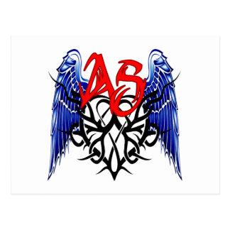 ¡Logotipo tribal de ASTV - está todo sobre el Tarjetas Postales