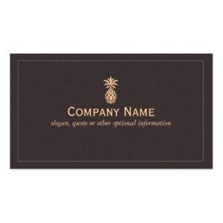 Logotipo tropical elegante de la piña plantilla de tarjeta personal