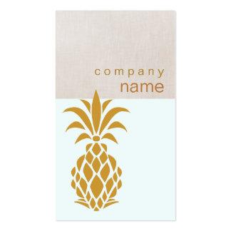 Logotipo tropical elegante de la piña plantillas de tarjetas personales