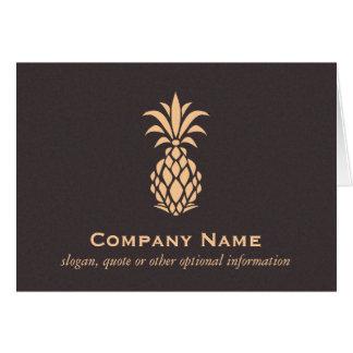 Logotipo tropical elegante de la piña tarjeta pequeña