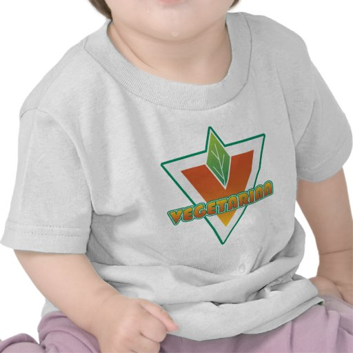 Logotipo vegetariano camisetas