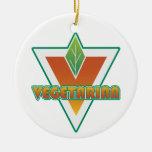 Logotipo vegetariano ornamente de reyes