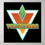 Logotipo vegetariano poster