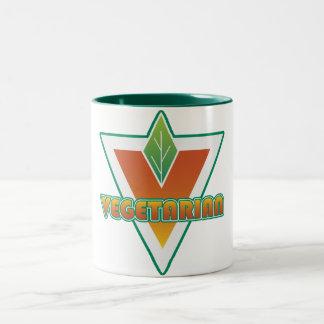 Logotipo vegetariano taza