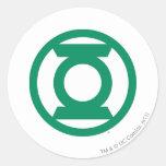 Logotipo verde 13 de la linterna etiqueta redonda