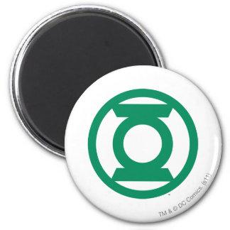 Logotipo verde 13 de la linterna imán redondo 5 cm