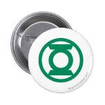 Logotipo verde 13 de la linterna pin redondo 5 cm