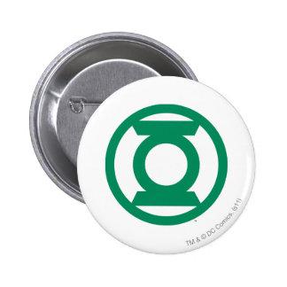 Logotipo verde 13 de la linterna pin redondo de 2 pulgadas