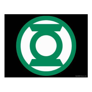 Logotipo verde 13 de la linterna postales