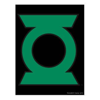 Logotipo verde 15 de la linterna postal