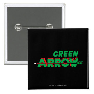 Logotipo verde 2 de la flecha pin cuadrado