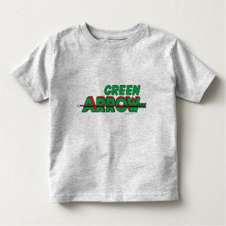 Logotipo verde 2 de la flecha playeras