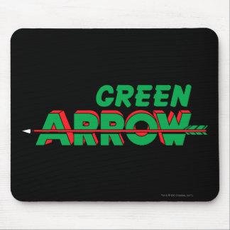 Logotipo verde 2 de la flecha mousepad