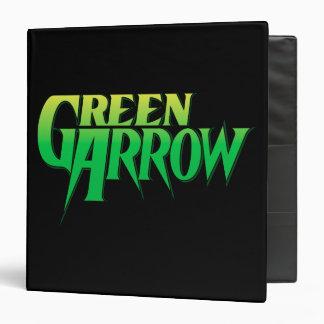 """Logotipo verde 3 de la flecha carpeta 1 1/2"""""""