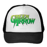 Logotipo verde 3 de la flecha gorros