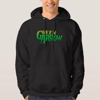 Logotipo verde 3 de la flecha jersey encapuchado
