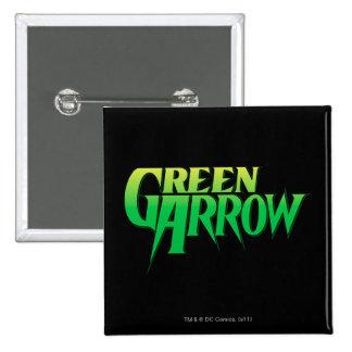 Logotipo verde 3 de la flecha pin cuadrado
