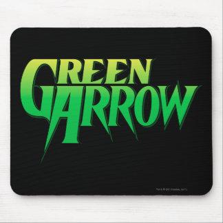 Logotipo verde 3 de la flecha tapete de ratones