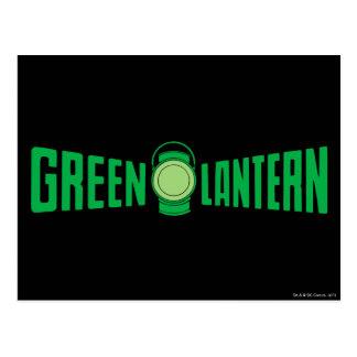 Logotipo verde 5 de la linterna postal