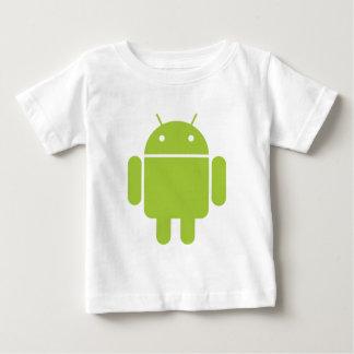 Logotipo verde androide del robot playera de bebé