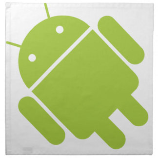 Logotipo verde androide del robot servilleta de papel