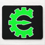 Logotipo verde básico alfombrillas de ratón