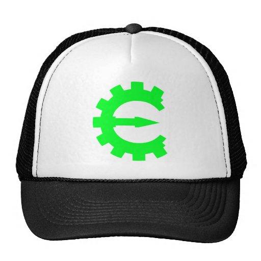 Logotipo verde básico gorras de camionero