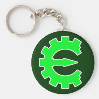 Logotipo verde básico llaveros personalizados