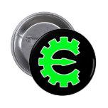 Logotipo verde básico pins
