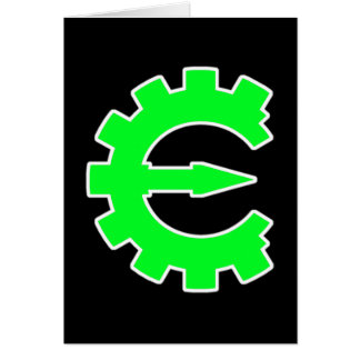 Logotipo verde básico tarjeta pequeña