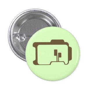 Logotipo (verde claro) pin redondo de 1 pulgada