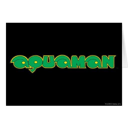 Logotipo verde de Aquaman Tarjeta De Felicitación