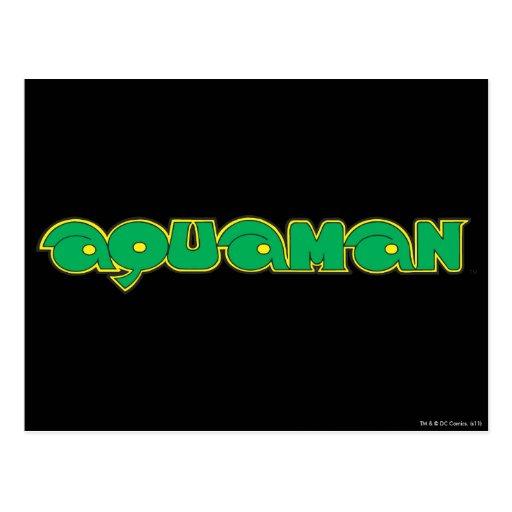Logotipo verde de Aquaman Tarjeta Postal