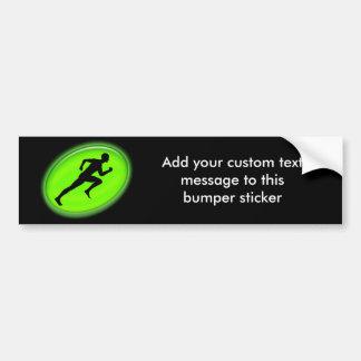 Logotipo verde de la aptitud del resplandor etiqueta de parachoque