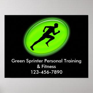 Logotipo verde de la aptitud del resplandor impresiones