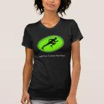 Logotipo verde de la aptitud del resplandor camiseta