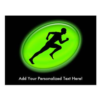 Logotipo verde de la aptitud del resplandor postales