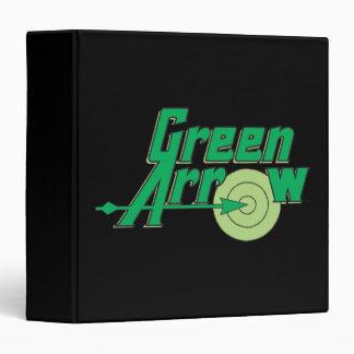 """Logotipo verde de la flecha carpeta 1 1/2"""""""