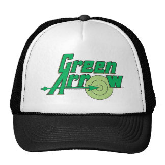 Logotipo verde de la flecha gorro de camionero