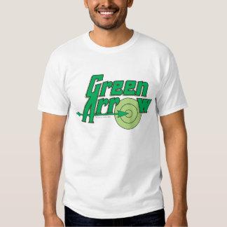 Logotipo verde de la flecha poleras