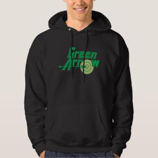 Logotipo verde de la flecha suéter con capucha