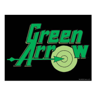 Logotipo verde de la flecha postales