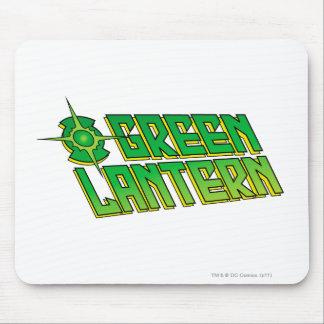 Logotipo verde de la linterna - inclinado tapete de ratones